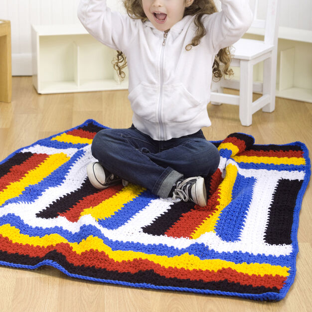Red Heart Kid's Stripes Throw in color