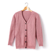 Caron Child's Crochet V-Neck Cardigan, Size 2