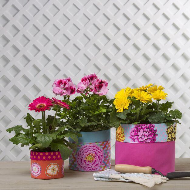 Coats & Clark Flower Pot Covers in color