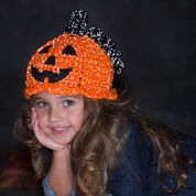 Red Heart Jack-'o-Lantern Hat