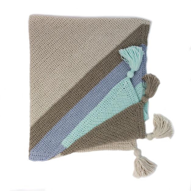 Patons Corner Dip Striped Crochet Afghan Pattern Yarnspirations