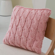 Red Heart Big Cables Pillow