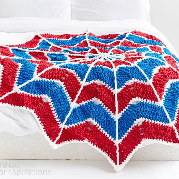 Bernat Spiderweb Crochet Blanket