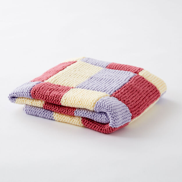 Caron Baby Steps Blanket in color