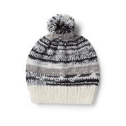Red Heart Simple Fair Isle Knit Hat, S