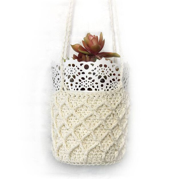 Patons Crochet Plant Hanger in color