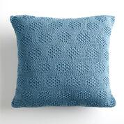 Bernat Mossy Dots Knit Pillow