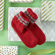 Go to Product: Red Heart Get Comfy Knit Slipper Socks, S in color