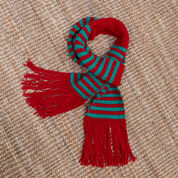 Red Heart Striped Gift Scarf