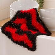 Red Heart Chevron Dish Scrub