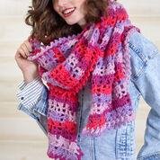 Red Heart Heartwarming Crochet Scarf