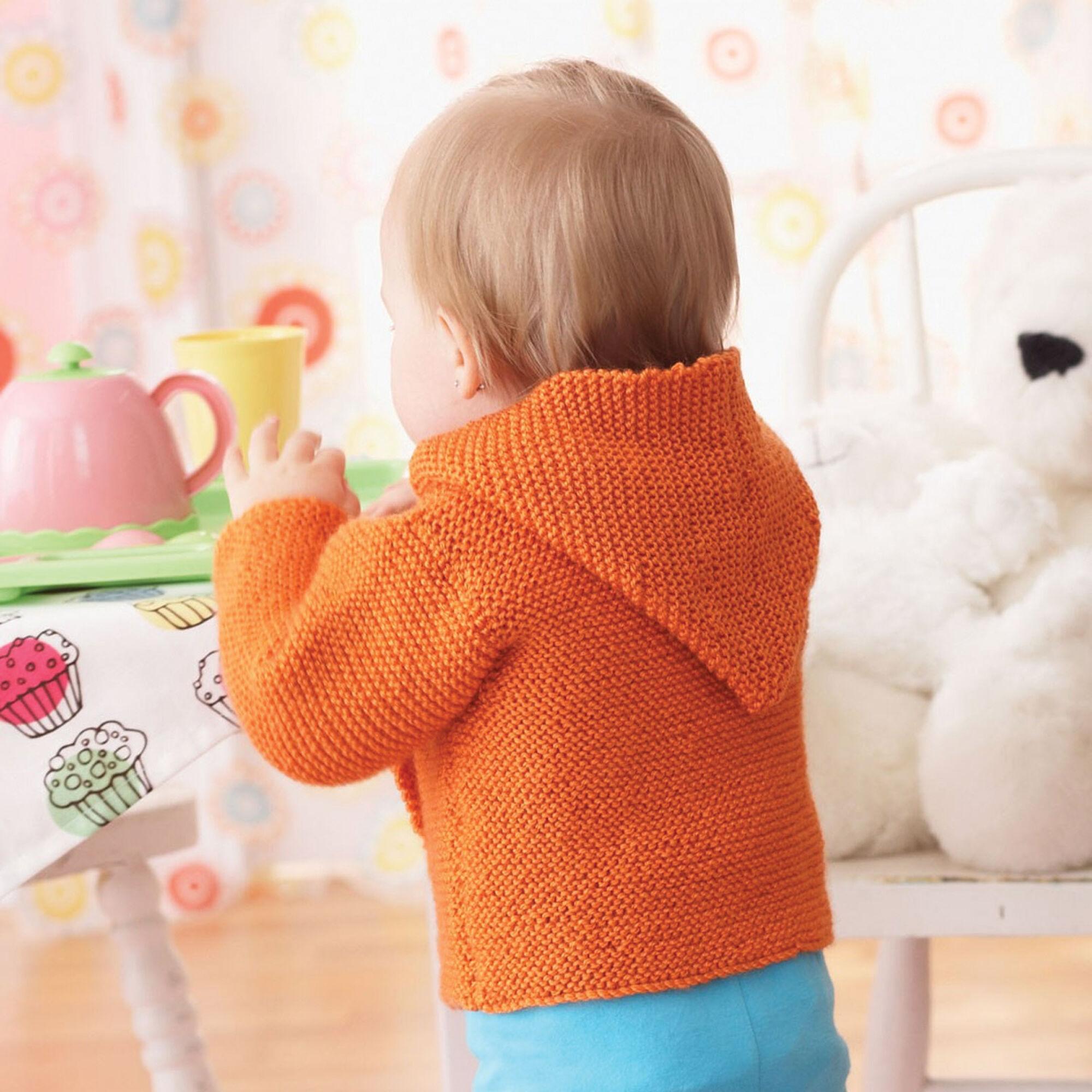 c70050d22a2c Bernat Garter Stitch Hooded Jacket