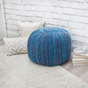 Red Heart Pop of Color Knit Pouf