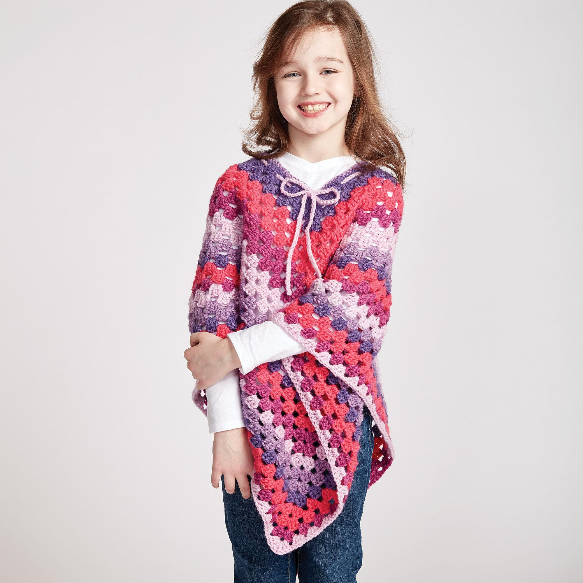 Bernat Girls Crochet Poncho Yarnspirations