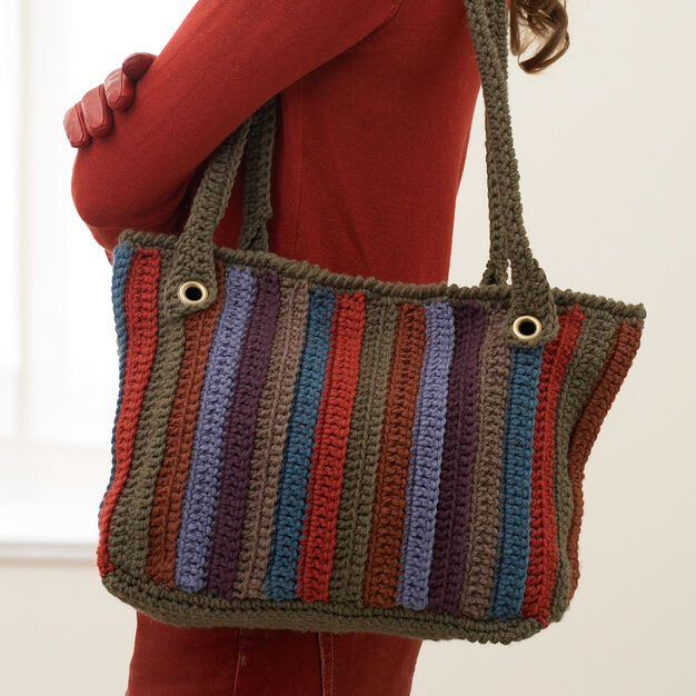Bernat Striped Tote in color