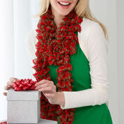 Red Heart Holiday Plaid Scarf