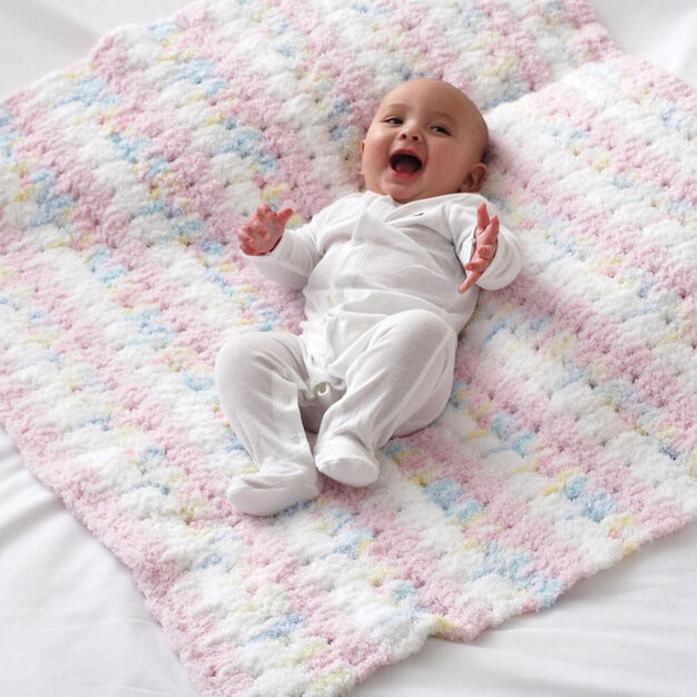 Bernat Clusters Baby Blanket in color