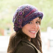Red Heart Buttoned Cloche Hat