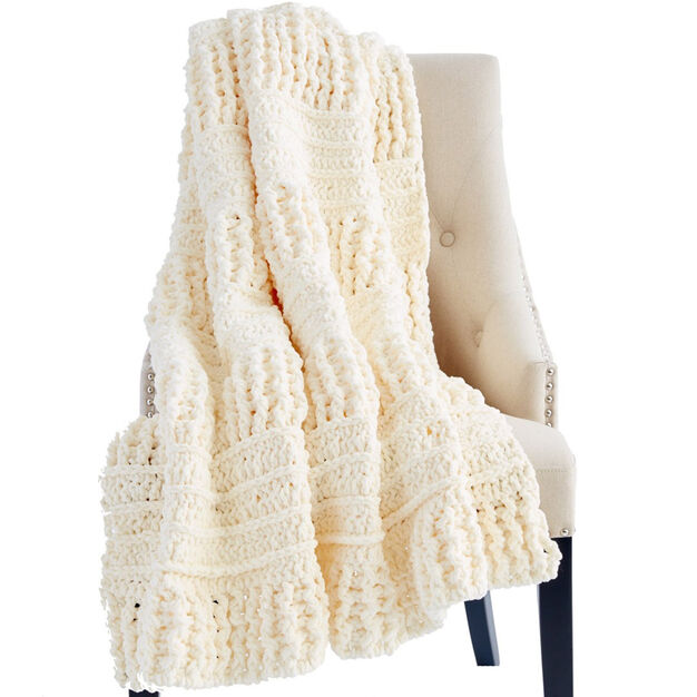 Bernat Here and There Crochet Blanket