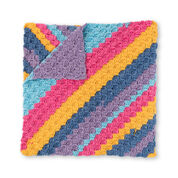 Bernat Diagonal Stripes Crochet Blanket