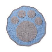 Bernat Crochet Paw Blanket