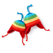 Caron Rainbow Crochet Hat, 2 yrs