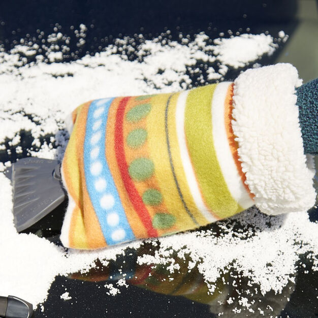 Dual Duty Ice Scraper Hand Warmer in color