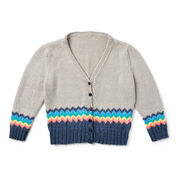 Caron x Pantone Knit Chevron Trim Cardigan, Version 1 - XS/S