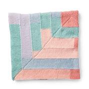 Caron Around the Corner Knit Blanket