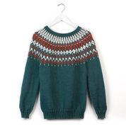 Patons His & Hers Knit Yoke Sweaters, His - XS/S