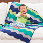 Red Heart Rock Your Baby Blanket