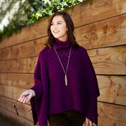 Red Heart Perfectly Panache Chic Poncho