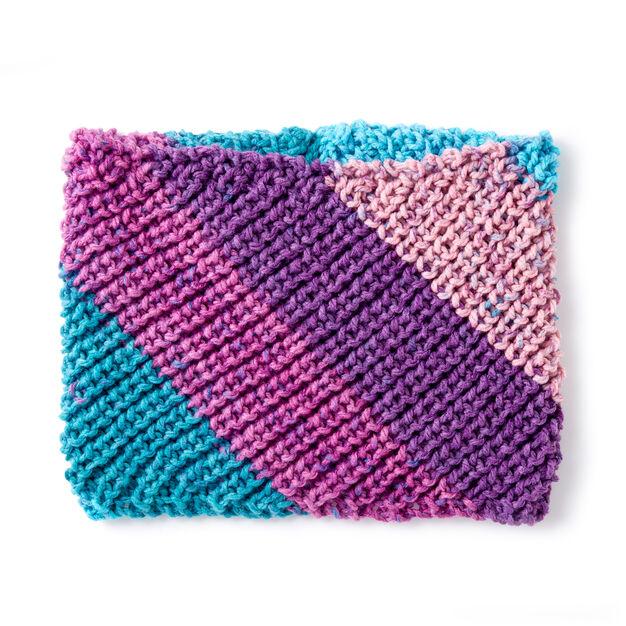 Caron Shaker Stitch Knit Cowl Pattern Yarnspirations