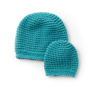 Caron Preemie to Toddler Size Crochet Hats, Preemie