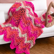 Red Heart Crochet Retro Throw