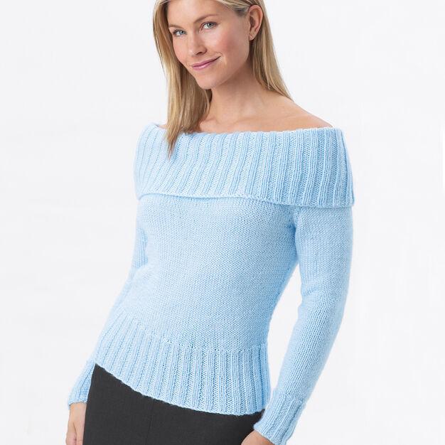 Bernat Off Shoulder Sweater, XS
