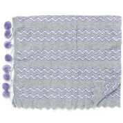Patons PomPoms and Ripples Blanket