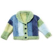 Bernat Shawl Collar Baby Cardigan, 6 mos