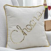 Dual Duty Cheers Sequined Pillow