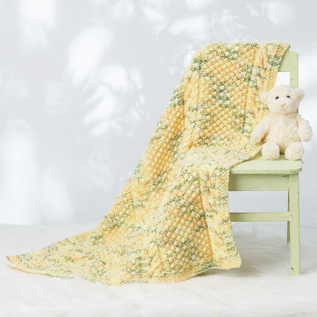 Bernat Cable Baby Blanket in color