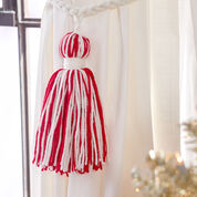Red Heart Holiday Tassel Decoration