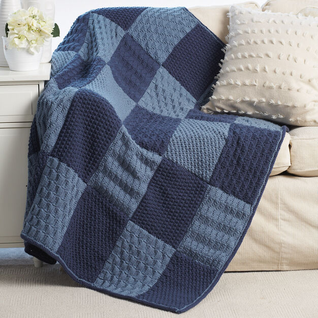 Bernat Sampler Blanket in color