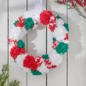Red Heart Crafty Christmas Wreath
