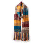 Patons Marl Stripe Knit Super Scarf
