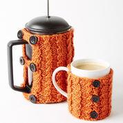Caron Coffee Press And Mug Cozies