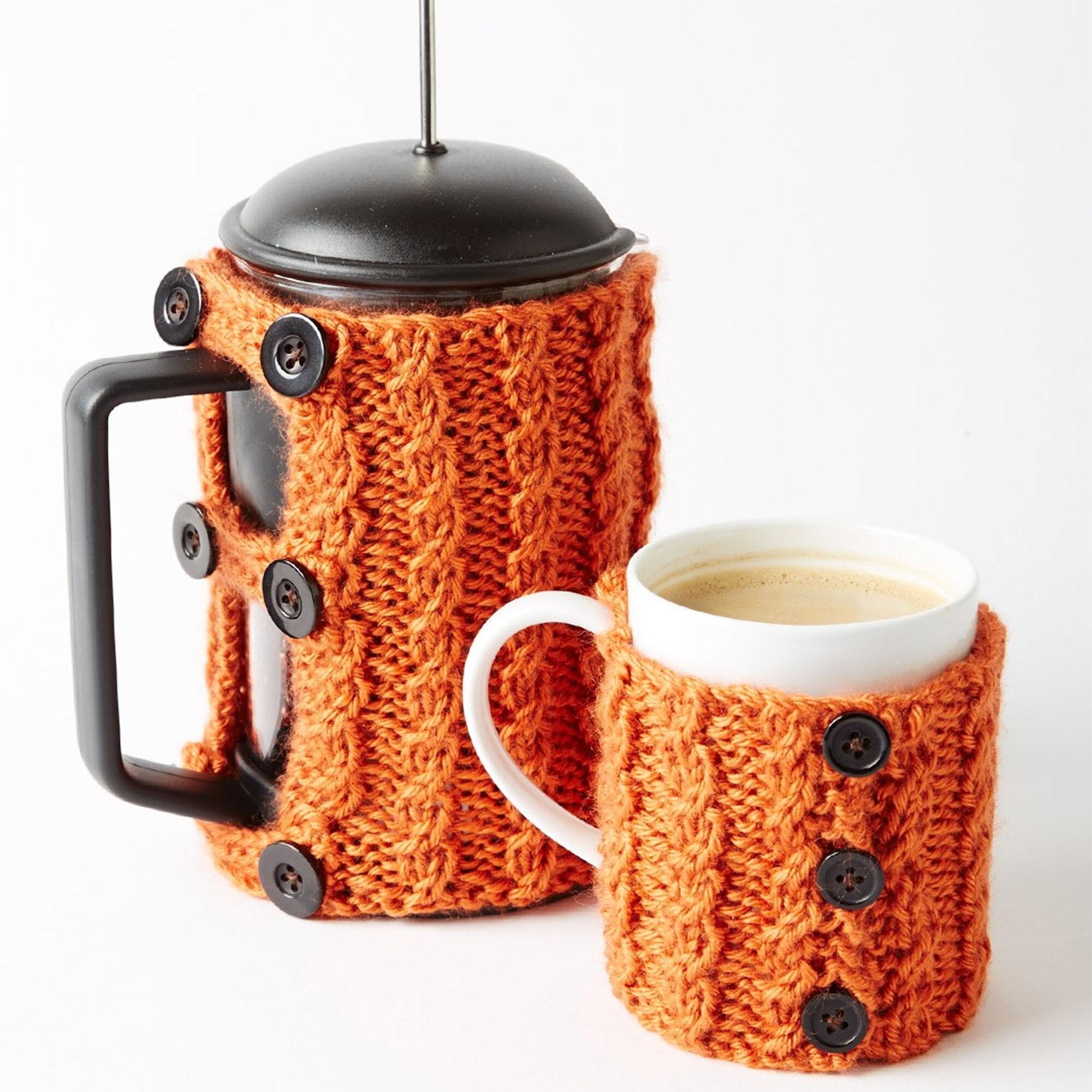 Caron Coffee Press And Mug Cozies | Yarnspirations
