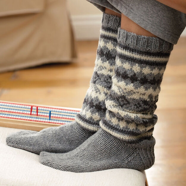 Patons Fair Isle Sock, S in color
