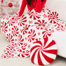 Red Heart Peppermint Throw and Pillow in color  Thumbnail Main Image 1}
