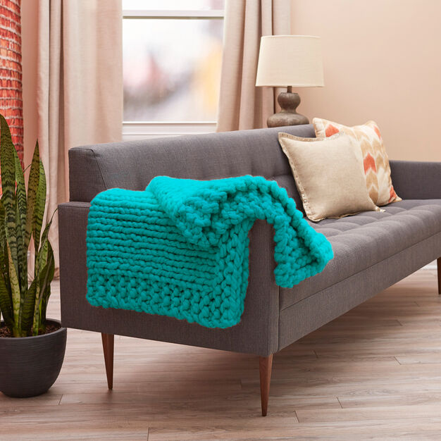 Red Heart Cool Comforts Knit Throw in color