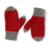 Red Heart Rita's Family Knit Mitts, Color Dip - 2/4 yrs